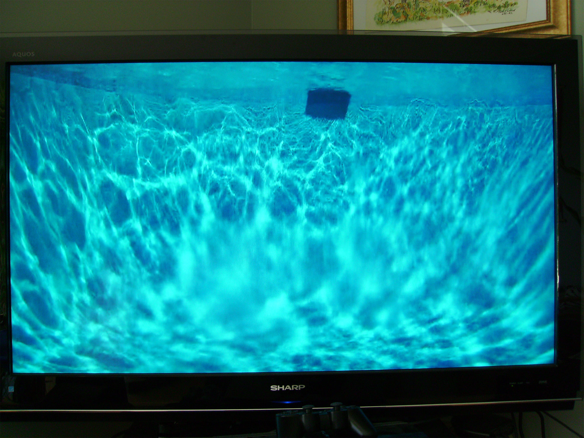 This is a low resolution photo from inside the pool showing the inner ocean of energy in the crystal clear pool water